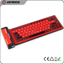 86 keys silicone rubber bluetooth keyboard for ipad and android---JK86
