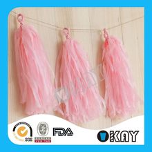 Excellent Quality Hot Sell Tissue Paper Art Tassel Garland
