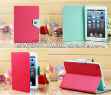 Red Mint Magnetic Leather Folio Stand Smart Case Cover for iPad Mini