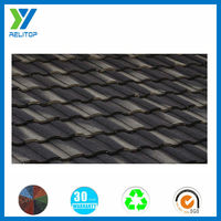 Roman type low price roofing material / color stone coated metal roof tile