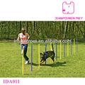 la agilidad del perro del animal doméstico de slalom equipo de entrenamiento de postes de tejido
