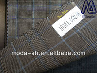 luxury fabric super110 blue100wool for suiting worsted plaid 10161.032/6