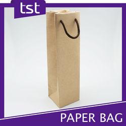 Packaging Kraft Brown Wine Paper Bag with Handle