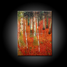 Popular Seller High Quality Abstract Wall Decor 100%Handmade Beautiful Trees Oil Painting On Canvas Birch Oil Painting Decor