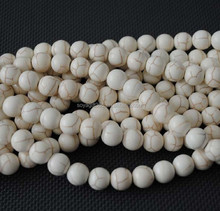 White Turquoise Beads Multi Size Loose Stone Beads For Necklace Bracelet Making