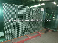 5mm Ceramic fritted tempered glass for decorative glass (ISO9001, AS/NZS 2208, CE EN12150)