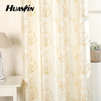 2015 High quality European new style laser embroidered window curtain