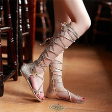 A342 European fashion vervel strap lace up ladies fancy flat sandal 2015