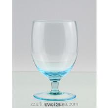 Soft sky blue colored brandy wine glass