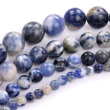 Wholesale Semi-precious Round Blue Jade Gemstone Beads for Jewelry Making