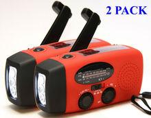 Solar dynamo AM/FM NOAA weather band radio with flashlight & charger