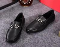 famous brand classic design super soft leather mens flat sole dress shoes