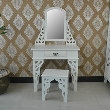 China cost modern wood Ivory vanity dressing table dresser for bedroom furniture