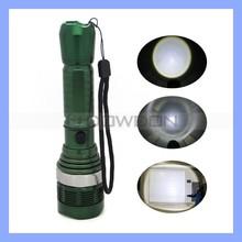 Green Night Climbing 300lm XM-L 5W LED Flashlight Torch Zoomable Flashlight