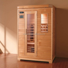 Hot Sale Portable Top Grade 3 Person Traditional Finish Infrared Sauna Room (GH-T1601)