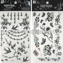 Fashion Water Activated Body Temporary Tattoo Eyebrow Stickers