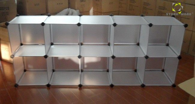 Delicieux Large Storage 10 Clear Plastic Cubes With Pp Panel