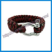Bangles type paracord survival bracelet