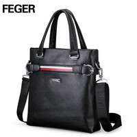 FEGER Genuine Leather Fashion Men's Handbag