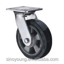 150mm Aluminum core rubber swivel caster