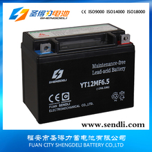 Best Price Motorcycle Batteries 12 Volts 6.5Ah MF With Acid Pack
