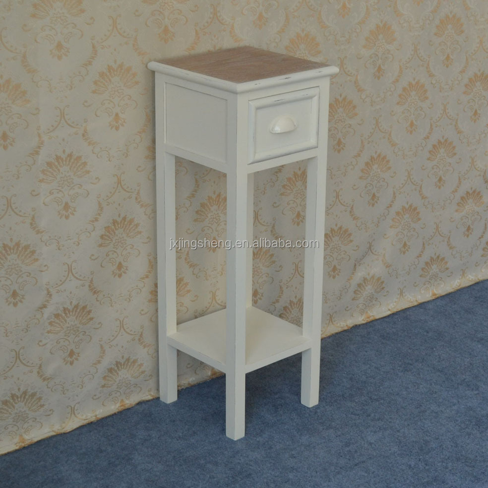 Merveilleux High Glossy White Telephone Table MDF Drawer Cabinet ...