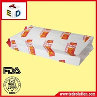 OEM manufacturer white paper bag with side gusset For Fast food