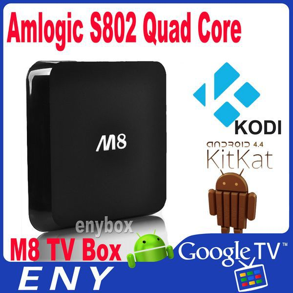 Quad Core TV Box 4.4 KODI Version Amlogic S802 Chip HD 1080p 4K2K Media Player Android Smart TV Box