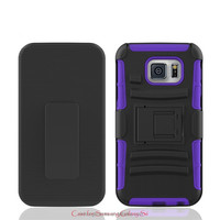 High Quality Shockproof Hybrid Belt Clip Cell Phone Case For Samsung S6