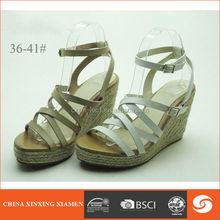 2015 wedge heel shoes strappy construction