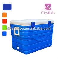 80L PU foam insulated plastic portable food cooler