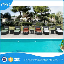 3 Piece Tan Wicker Patio Sectional Sofa Furniture Set Outdoor Home Deck Poolside RS0085