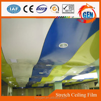 Pvc fabrics to decorate ceilings up tp 5 meters with 15-year warranty for swimming pools