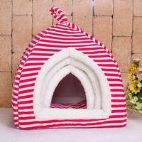 Spot wholesale striped folding collapsible yurt pet nest washable dog kennel cat litter