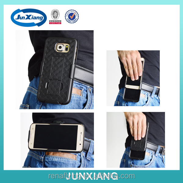 2015 new mobile phone holster combo case for samsung galaxy s6