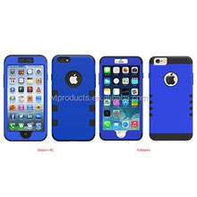X-001-2 Plastic Silicon + PC Mobile Phone Case For Iphone 6