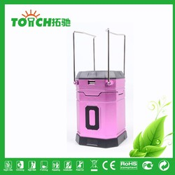 popular design led lantern with Inner Ni-MH Rechargeable Battery solar charge with USB charge for phone