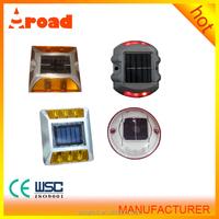 Top safe solar road marker stud safety reflector Aluminium solar road stud