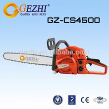 2 tempos a gasolina motosserras motosserra chinês para a venda de baixa vibração de alta performance de qualidade cs-4500