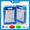 Factory price Stand Up Soft PVC Vinyl packing Pouch With Handle