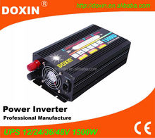 DOXIN FACTORY 12V 220V 1500W power inverter with ups battery charger