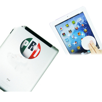 Microfiber sticky screen cleaner with silicon gel for mobile phone