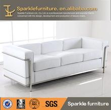 2014 hot sale white LC2 Modern leather Sofa living room furniture