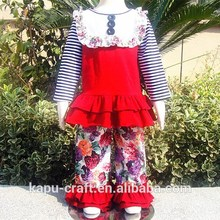 venta al por mayor ropa de niño niñas pantalones volante conjunto