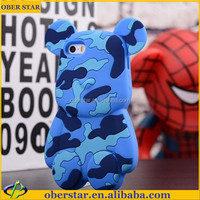 CUTE HUMOROUS FUNNY 3D BEAR PANDA BUNNY SOFT SILICONE ANIMAL SKIN COVER CASE FOR IPHONE