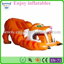 Tiger inflatable slide cartoon bouncy slide fun inflatable slides high quality outdoor toys animal slope inflatable bouncy slide