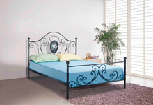 China manufacture design iron bed frame with colored drawing board