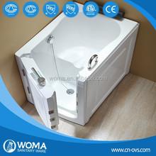 Gel coat fiberglass walk-in bathtub with door Q376