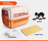 Eco-friendly durable pet carrier dog crate flight cage
