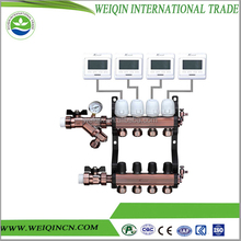 Copper pipe manifold with standard 220v 2 way valve manifold for underfloor heating not leakage in stock supply from China